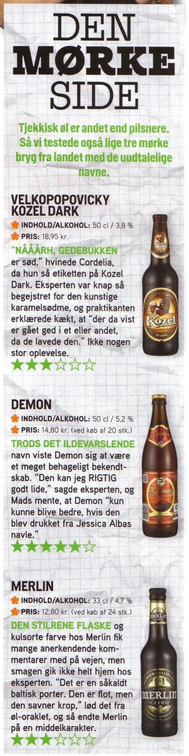 indhold i øl